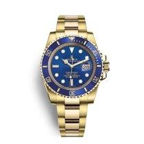 Rolex Submariner Date Yellow gold 40mm Blue No numerals UAE, Dubai