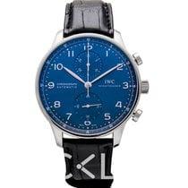 IWC Portuguese Chronograph Steel 40.90mm Blue