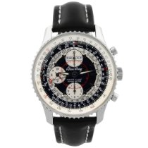 Breitling Montbrillant Datora Steel 43mm Black No numerals