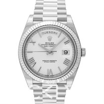 Rolex Day-Date 40 Or blanc 40.00mm Blanc
