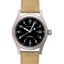 Hamilton Steel Manual winding Black 38mm new Khaki Field Officer