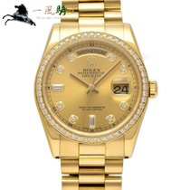 Rolex Day-Date 36 pre-owned 36mm Champagne Yellow gold