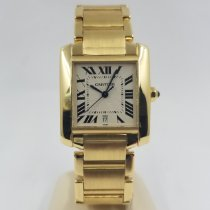 Cartier Tank Française Yellow gold 28mm Silver Roman numerals United States of America, Florida, Coral Gables