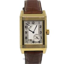Jaeger-LeCoultre Yellow gold Manual winding Silver 29mm pre-owned Reverso Grande Date
