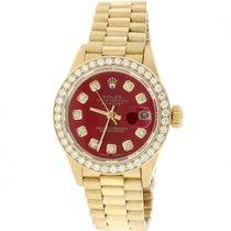 Rolex Lady-Datejust Κίτρινο χρυσό Κόκκινο