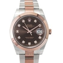 Rolex Datejust Or rose 41mm Brun