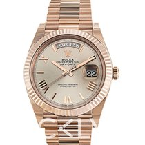 Rolex Day-Date 40 Oro rosado 40mm Gris