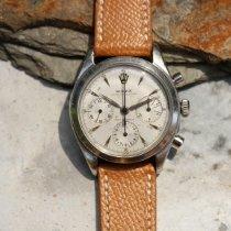 Rolex Chronograph Steel Silver No numerals