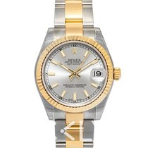 Rolex Lady-Datejust Yellow gold 31mm Silver