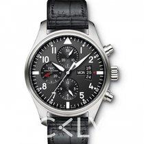 IWC Pilot Chronograph Сталь 43.00mm Чёрный