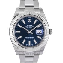 Rolex White gold Automatic Blue 41.00mm new Datejust II