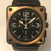 Bell & Ross BR 01-94 Chronographe Acero y oro 46mm Negro