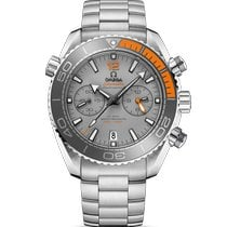 Omega Seamaster Planet Ocean Chronograph Titanium 45.5mm Grey No numerals