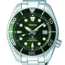 Seiko Prospex Acero 45mm Verde Sin cifras