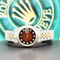 Rolex Lady-Datejust Gold/Stahl 26mm Rot Keine Ziffern Deutschland, Hamburg