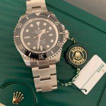 Rolex Sea-Dweller Deepsea Stahl 44mm Schwarz Keine Ziffern