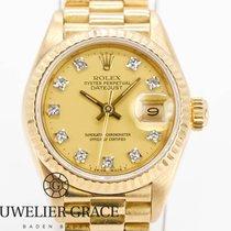 Rolex Gelbgold Automatik Gelb Keine Ziffern 26mm gebraucht Lady-Datejust