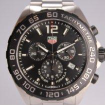 TAG Heuer Formula 1 Quarz gebraucht 43mm Schwarz Chronograph Datum Tachymeter Stahl