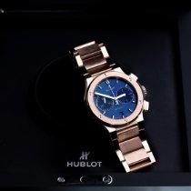 Hublot Classic Fusion Chronograph Ouro rosa 45mm Azul