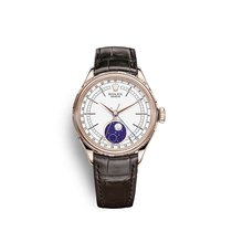 Rolex Cellini Moonphase Rose gold 39mm White No numerals