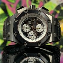 Audemars Piguet Royal Oak Offshore Chronograph Titane 44mm Noir Sans chiffres France, Paris