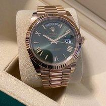 Rolex Day-Date 40 Or rose 40mm Brun France, Paris