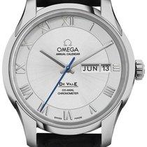 Omega De Ville Co-Axial Acero 41mm Plata Romanos