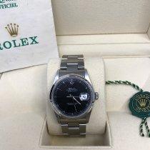 Rolex Datejust gebraucht 36mm Schwarz Datum Stahl