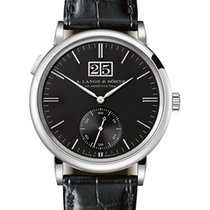 A. Lange & Söhne Saxonia White gold 39.5mm Black