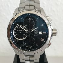 TAG Heuer Link Calibre 16 Steel 43mm Black Roman numerals