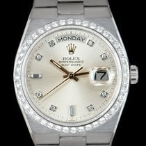 Rolex Day-Date Oysterquartz White gold 36mm Silver