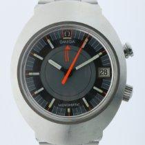 Omega Memomatic Steel 50mm Grey No numerals