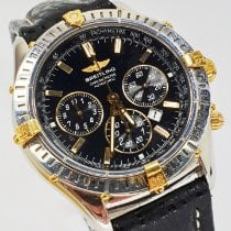 Breitling Shadow Flyback Gold/Steel 38mm Black No numerals