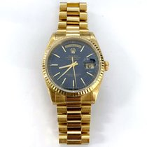 Rolex Day-Date 36 Yellow gold 36mm Blue United States of America, New York, New York