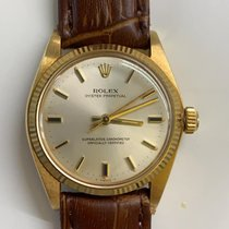 Rolex Oyster Perpetual 31 Yellow gold 31mm Silver No numerals