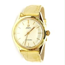 Omega Yellow gold Automatic White No numerals 33mm pre-owned Seamaster