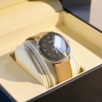 Junghans max bill Automatic gebraucht 38mm Grau Leder