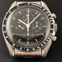 Omega Speedmaster Professional Moonwatch Moonphase occasion Noir Phase lunaire Chronographe Acier