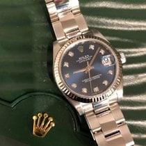 Rolex Lady-Datejust Stahl 31mm Blau
