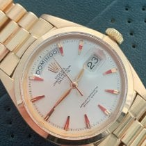 Rolex Day-Date Or rose 36mm Blanc Sans chiffres