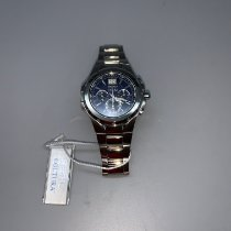 Seiko Coutura Staal 43mm Blauw Geen cijfers