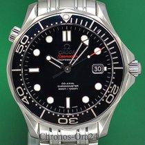 Omega Seamaster Diver 300 M Stal 41mm Czarny Bez cyfr