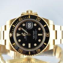 Rolex Submariner Date Yellow gold 40mm Black No numerals