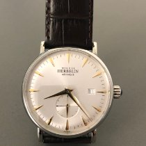 Michel Herbelin Steel Manual winding Silver No numerals 40mm new