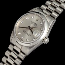 Rolex Platinum Automatic Silver 31mm pre-owned Datejust