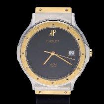 Hublot Classic Gold/Stahl 36mm Schwarz Keine Ziffern