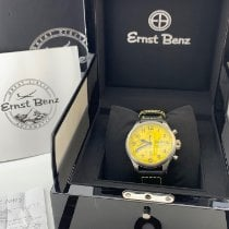 에른스트 벤츠 스틸 47mm 자동 Ernst Benz Chronoscope 47MM Yellow Dial GC10119 신규