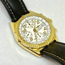 Breitling Chronomat gebraucht 40.5mm Weiß Leder