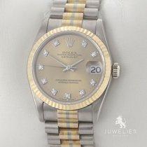 Rolex Datejust Ouro branco 31mm Champanhe