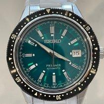 Seiko Presage Steel 41.3mm Green No numerals Australia